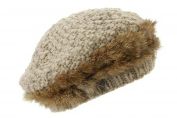 Bereta din lana cu blana de iepure - Seeberger