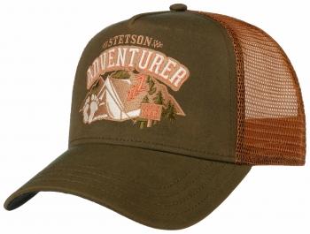 Sapca din bumbac si poliamida Trucker Cap Camping Yeti - Stetson