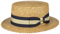 Palarie din paie Boater Vintage Wheat - Stetson