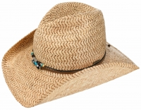 Palarie din paie Western Embossed Raffia - Stetson