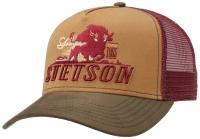 Sapca din bumbac Trucker Cap Stronger Bison - Stetson