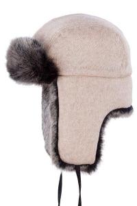 Caciula din lana cu blana sintetica Cromwell - Stetson