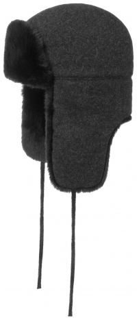 Caciula din lana si casmir cu blana sintetica Bomber - Stetson