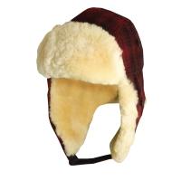 Caciula din lana amestec cu blana Heritage - Woolrich